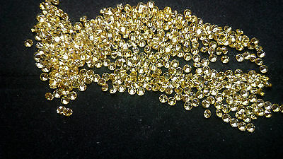 1.5mm Yellow Cubic Zirconia Round Cut Loose Gemstone AAAAA lot of 100 stones