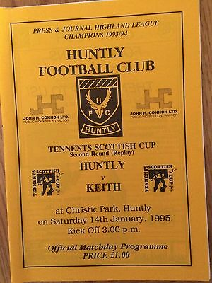 HUNTLY v KEITH 14.1.1995 SCOTTISH CUP  SCOTTISH NON LEAGUE