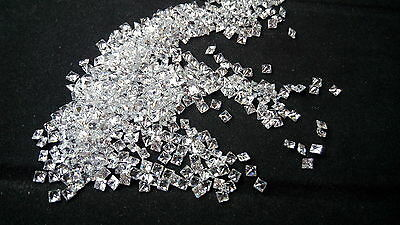 White Cubic Zirconia 2x2mm Square Princess Cut Loose Gemstone AAAAA 60 stones