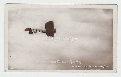 Bournemouth Aviation Meeting -  Drexel 1950ft in the air 1913 RP postcard