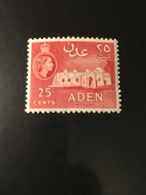 Aden 1953 sg 80 25c red MH
