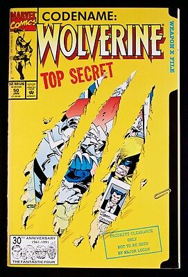Codename: Wolverine #50 Top Secret Die Cut Cover January 1992 Marvel Larry Hama