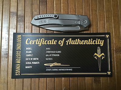 Anthony Marfione Custum Anax Microtech Knives