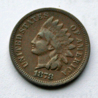 1878 Indian Head Penny VG Details