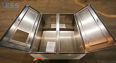 Hoffman Electrical Enclosure Double Door Wall Mt 40W x 48H x 10D Stainless Steel