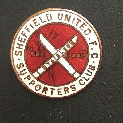 sheffield united Football Supporters Club Enamel Badge 19mm REDUCED PRICE