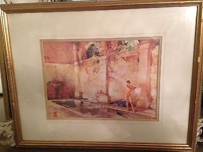 SIR WILLIAM RUSSELL FLINT 'In Classic Provence' Framed Watercolour Art PRINT