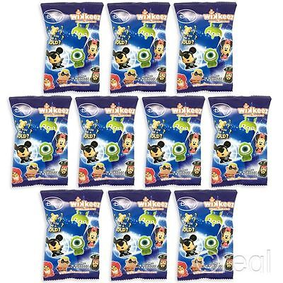 New 10 Disney Wikkeez Blind Bags Series 1 Figures & Stickers Official Licensed