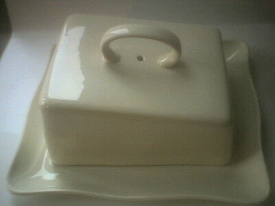 Vintage Butter Chesse Dish marked Bristol founded 1652 Made in England