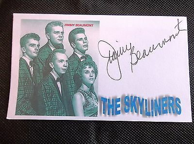 """Jimmy Beaumont """"The Skyliners"""" Autographed 3x5 Index Card"""