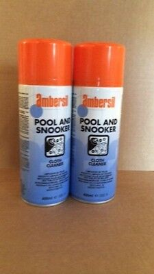 Ambersil Pool And Snooker Table Cloth Cleaner 2 Cans-Genuine