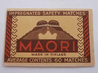 Vintage Match Box / Matchbox Label80