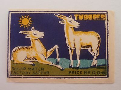 Vintage Match Box / Matchbox Label590