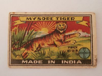 Vintage Match Box / Matchbox Label628