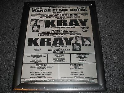 the krays boxing picture framed new rare reg kray ronnie kray large