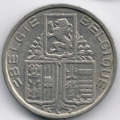 Belgium : 5 Francs 1939 Dutch French Legend - Position A with Stars