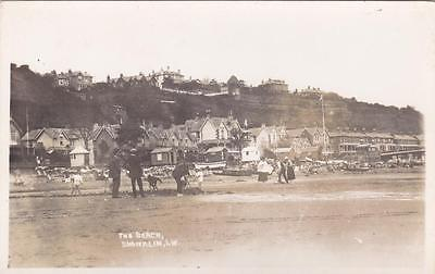RP SHANKLIN THE BEACH SEAFRONT  I.O.W  ISLE OF WIGHT REAL PHOTO c1912