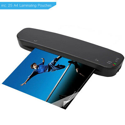 A4 Laminator - 5 Free Laminating Pouches - Hot and Cold - 250 Micron