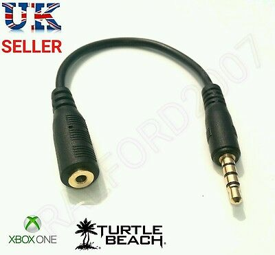 NEW Headset Chat Cable Adapter for Xbox One TalkBack Turtle Beach Gaming Headset