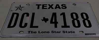 Texas License Plate DCL-4188