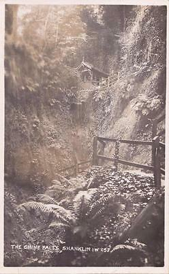 RP SHANKLIN CHINE FALLS   I.O.W  ISLE OF WIGHT REAL PHOTO c1912