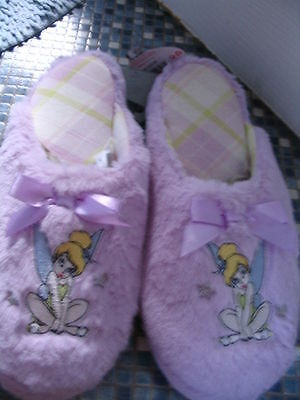 Disney Store Tinkerbell Lilac Slippers Ladies Size 7/8 3/4 Brand New Very Rare