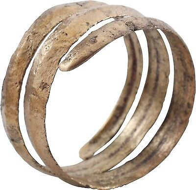 ANCIENT VIKING COIL RING, C.850-1050 A.D. Size 11 ¾