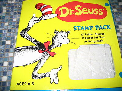 Dr Seuss Cat In The Hat Stamp Pack With Activity Book Brand New Very Rare