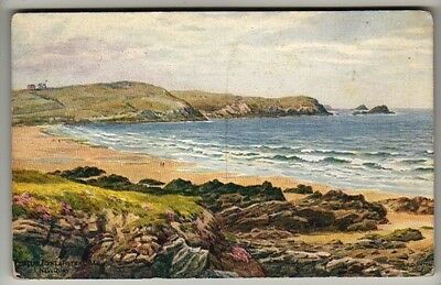 Cornwall - Newquay, Pentire Point and Fistral Bay by A. R. Quinton - Postcard