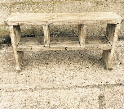 A Rustic Up-Cycled Bench.