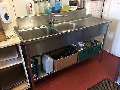 Stainless Steel Double Sink For Catering Kitchen