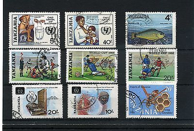 Tanzania 9 -- 1986 Used Stamps On Stockcard