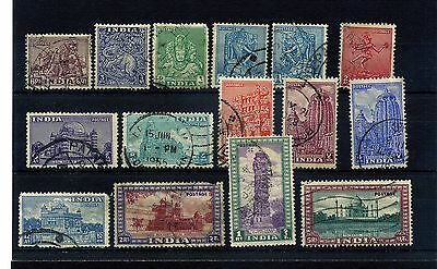 India.15 --1949/51 Used Stamps On Stockcard