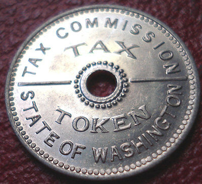 State Of Washington Tax Token In Au Condition