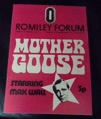 ROMILEY FORUM 1972 programme MAX WALL in MOTHER GOOSE