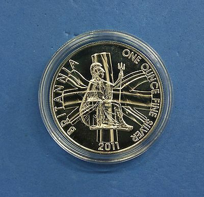 2011 Royal Mint 1oz Silver £2 Britannia coin in Capsule  (Q6/60)
