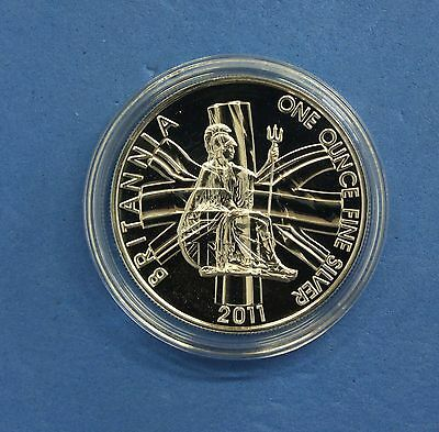 2011 Royal Mint 1oz Silver £2 Britannia coin in Capsule  (Q6/61)