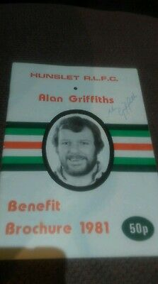 Alan Griffiths Benefit Brochure Signed
