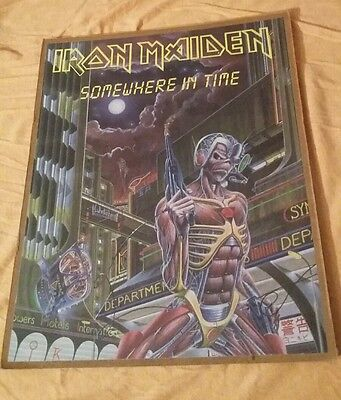 Vintage Iron Maiden Poster 16 x 20 Somewhere in Time