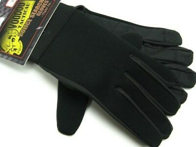 VOODOO TACTICAL Black NEOPRENE POLICE Search Gloves Size X-Large! 01-663501096