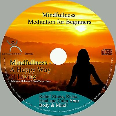 4x MINDFULLNESS MEDITATIONS ON 1 CD- FOR STRESS RELIEF, CALMING BODY MIND NEW☆