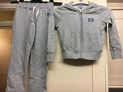 M & S Indigo Girls Grey Tracksuit Age 5/6