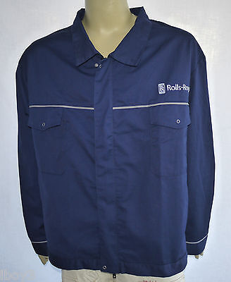 GENUINE 90's VINTAGE ROLLS-ROYCE FACTORY ISSUE OVERALL WORKWEAR JACKET TOP 5XL