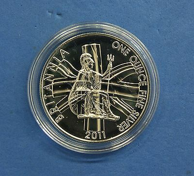 2011 Royal Mint 1oz Silver £2 Britannia coin in Capsule  (Q6/69)