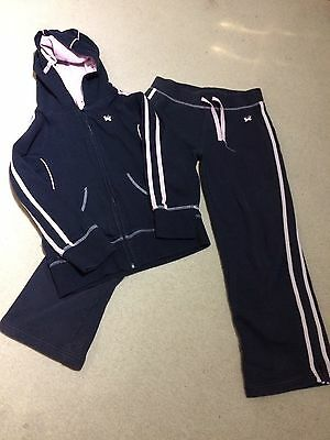 Next Girls Black/pink Tracksuit Age 9 Years.