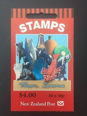 NEW ZEALAND, 1998, Stamp Booklet, Town Icons, 10 x 40c, MNH