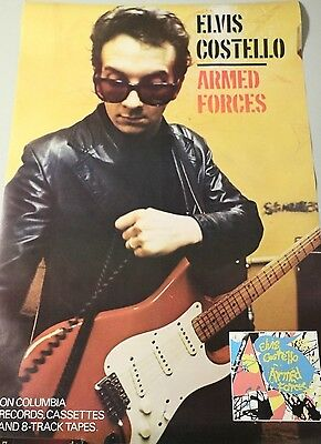 Elvis Costello 1979 Armed Forces Promotional Record Store Poster 37 x 24 P557