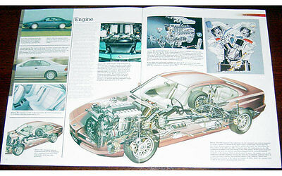 BMW 850i Fold-out Poster + Cutaway  drawing