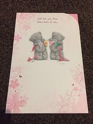 """TO MUM FROM BOTH OF US "" ME TO YOU TATTY TEDDY CARD FROM 99p"