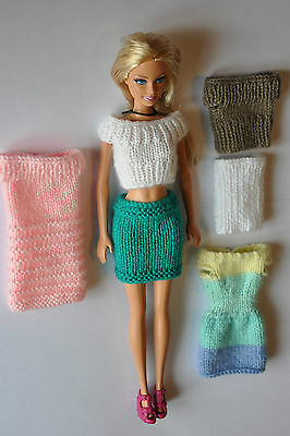 Barbie Fashion Doll Clothes Pack - Dresses skirts and tops - 2 of each